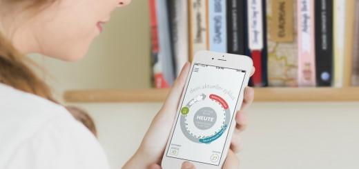 Die Clue App auf dem Smartphone
