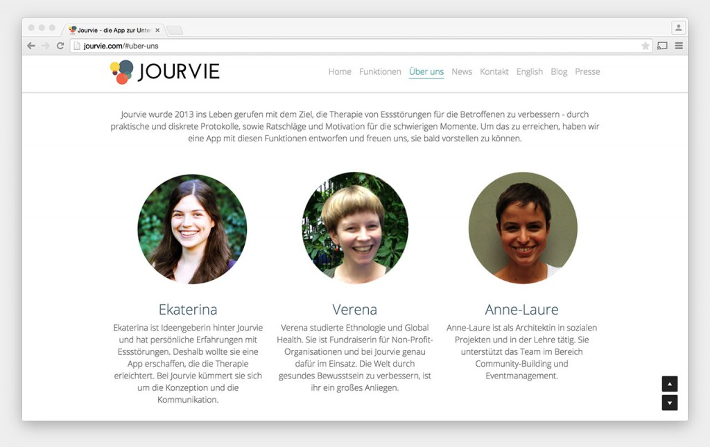 Screenshot: Jourvie-Team