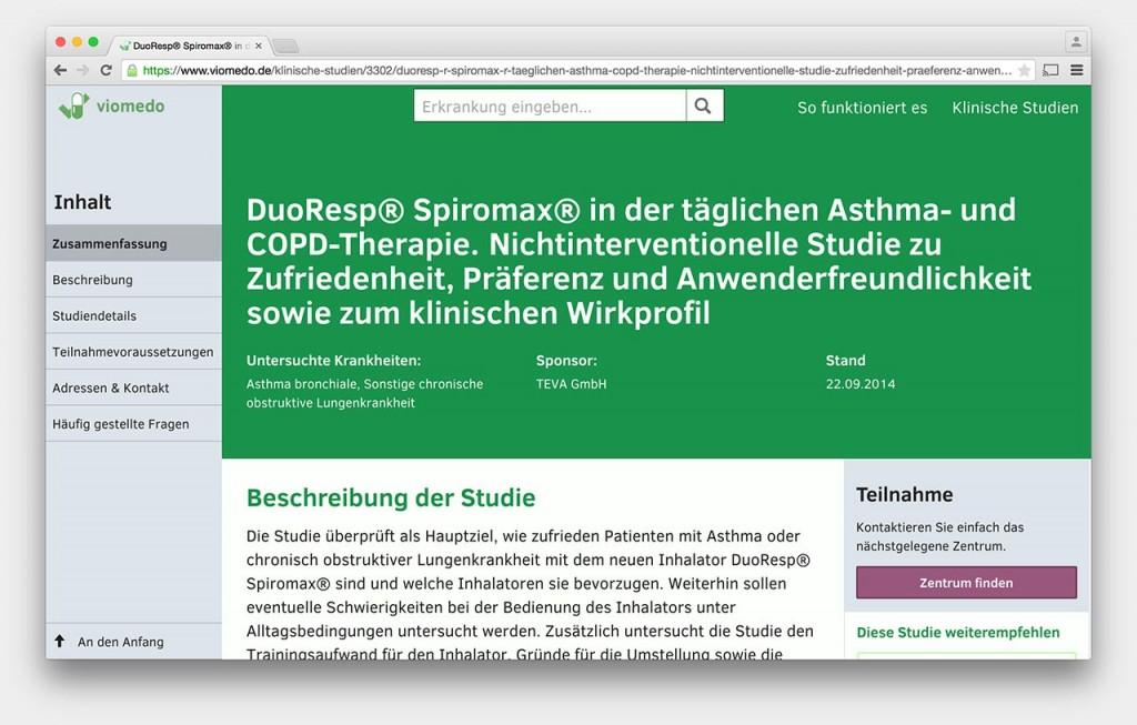 Screenshot www.viomedo.de