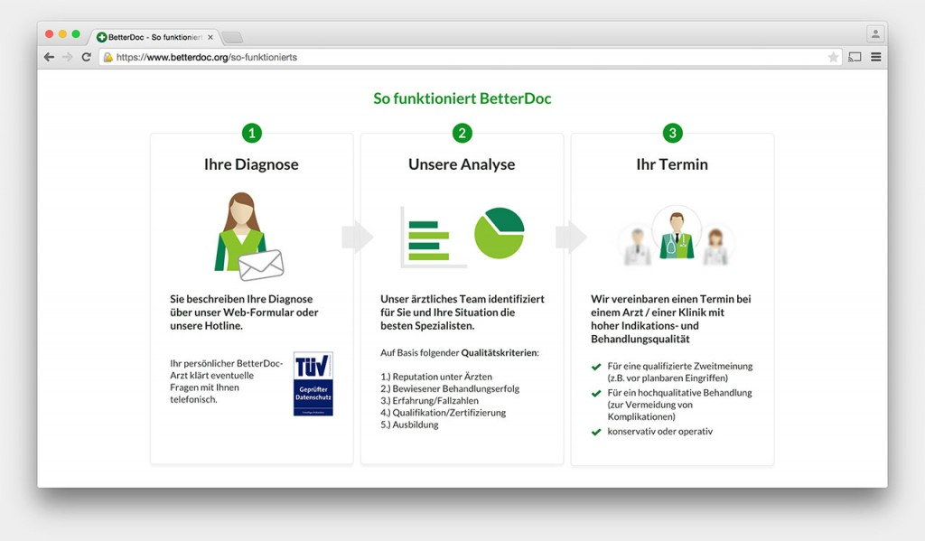 Screenshot: So funktioniert BetterDoc