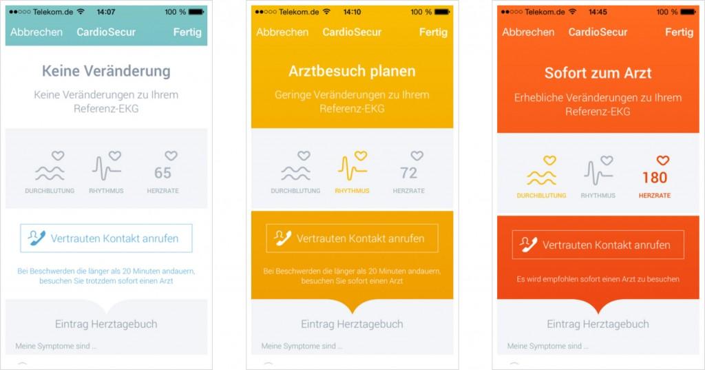 CardioSecur App Screenshots